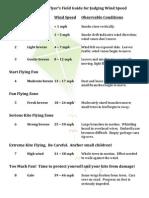 Kite Flying Wind Chart
