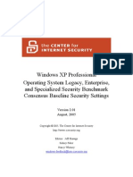 CIS WindowsXP Benchmark v2.01