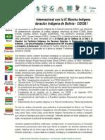 La Coordinadora de Organizaciones de la Cuenca Amazónica (COICA) sobre el TIPNIS