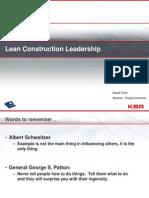 Lean Construction Leadership_David Trent