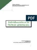 introducción teoria gerencial