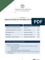 Arquitectura de Sistemas de Informação