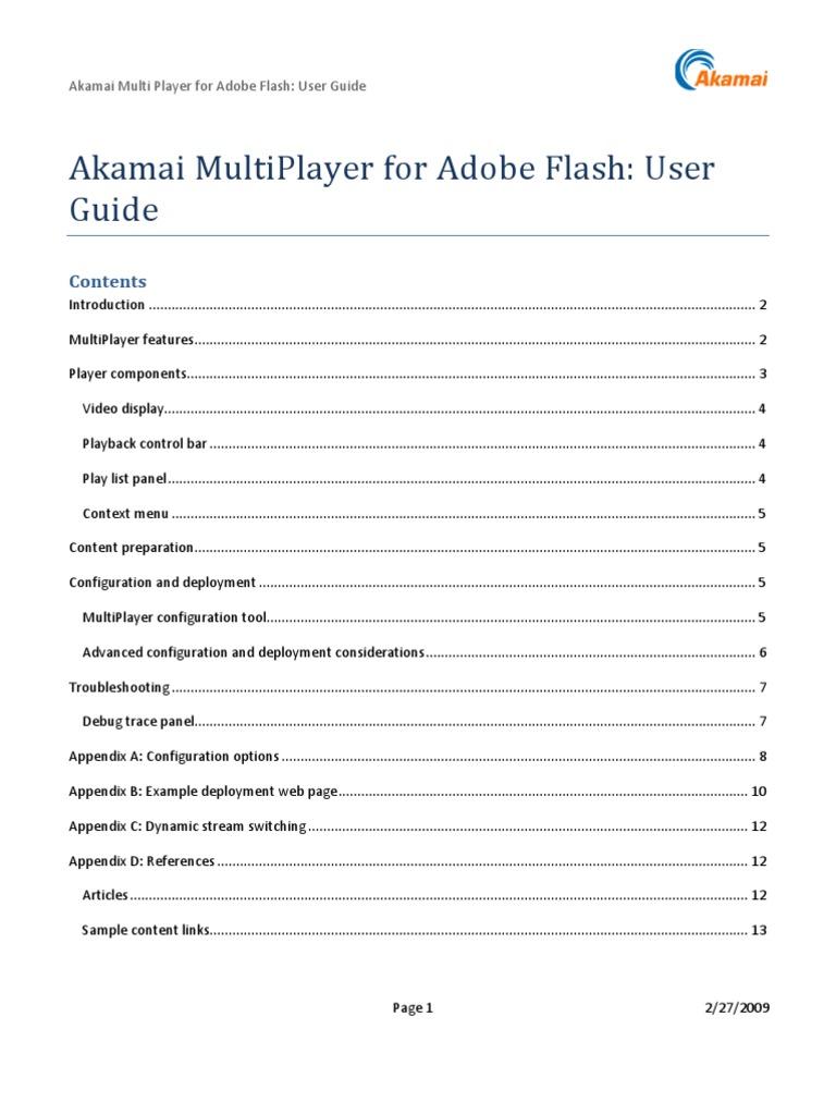 akamai multi player user guide adobe flash html rh scribd com adobe flash cs3 professional user guide adobe flash cs3 professional user guide.pdf