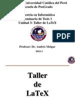 Unidad 3 - Taller de LaTeX (1)