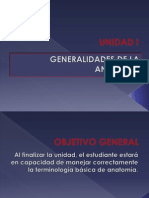 UNIDAD I General Ida Des de La Anatomia