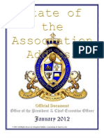 State of the Association Address 2012