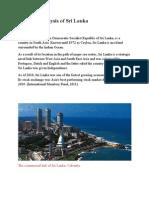 PESTEL Analysis of Sri Lanka