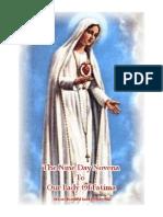Nine Day Novena Prayer to Our Lady of Fatima