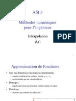 Méthodes numériques pour l'ingénieur interpolation f(x)