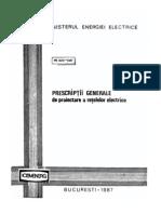 PE022!3!85 Prescriptii Generale de Proiectare a Retelelor Electrice