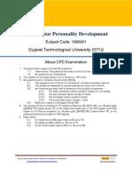 Sample Ques Set 3 CPD GTU
