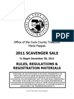 Scavenger Sale Rules and Regulations