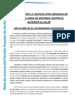 Nota de Prensa Pp Archena