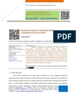 Numerical Analysis of Turbulent Diffusion Combustion in Porous Media