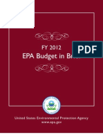 EPA Budget in Brief - FY 2012