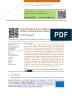 Cyclic Elastoplastic Large Displacement Analysis and Stability Evaluation of Steel Tubular Braces