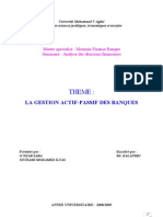 Gestion Actif Passif Des Banques