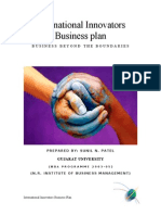 International Innovators Business Plan