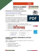 Toner original para Kyocera Mita FS-1118MFP