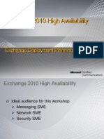 Exchange 2010 High Availability