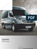 2011 Mercedes Benz Sprinter Brief Instructions Manual