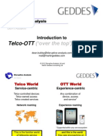 Introduction to Telco-OTT - Disruptive Analysis Ltd and Martin Geddes Consulting Ltd