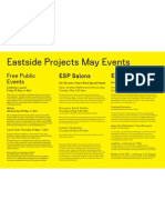 Eastside Projects May Events
