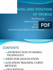 Tracking & position of mobile
