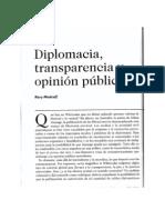 Diplomacia, transparencia y opinión pública