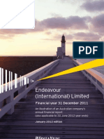 Endeavour Financial Year 31 Dec 2011