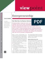 Business Environment and Entrepreneurship World Bank