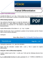 Implicit Partial Differentiation