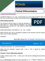 Implicit Partial Differentiation