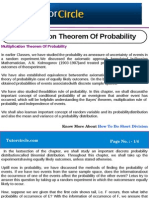 Multiplication Theorem of Probability