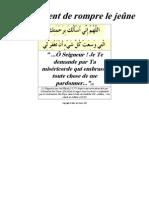 Invocations de la rupture du jeûne 2/2