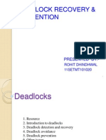 Deadlock Recovery &Preventtion