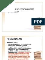 ETIKA & PROFESIONALISME PERGURUAN