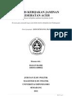Analisis Kebijakan Jaminan Kesehatan Aceh