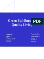Green Buildings for Quality Living