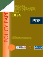 Policy Paper RUU Desa