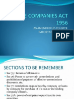 The Companies Act Sections