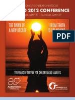 PROGRAM GUIDE -- AUTISMONE/GENERATION RESCUE 2012 CONFERENCE