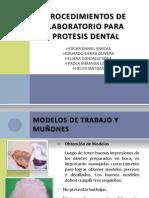 Procedimientos de Laboratorio Para Protesis Dental