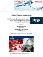 Experton Group Cloud Vendor Benchmark 2012 Einladung Leader Ceremony