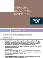 Intraoral Radio Graphic Examinations