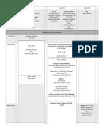 affirmation schedule
