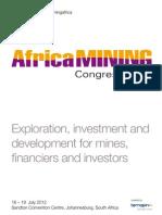 Africa Mining 2012 Agenda