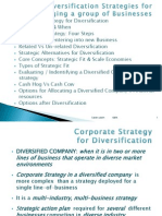Diversification Strategies 31 Mar 12