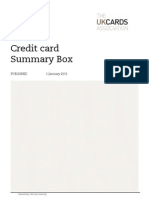 Credit Card Summary Box