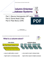 Column Oriented DB Systems